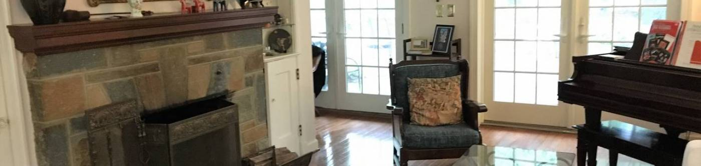 Inside one of our temporary rentals in DC
